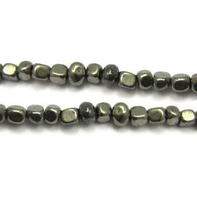 Pyrite Smooth Nugget Beads 8mm Pale Gold 40+ Pcs Handcut Gemstones DIY Jewellery