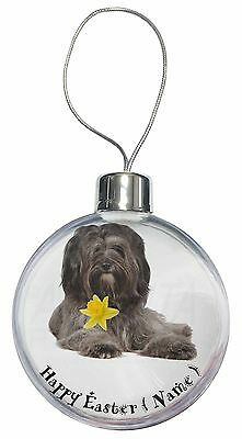 Personalised Tibetan Terrier Christmas Tree Bauble Decoration Gift, AD-TT2DA2CB