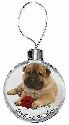 Personalised (Any Name) Christmas Tree Bauble Decoration Gift, VAD-SH2RCB