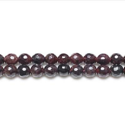 Strand Of 95+ Dark Red Garnet 4mm Faceted Round Beads GS0345-1