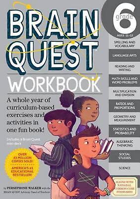 Brain Quest Workbook: Grade 6 by Persephone Walker (English) Paperback Book Free