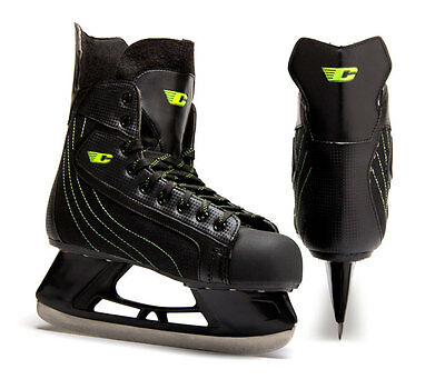 Candian XLite ice hockey skates black senior size men's US 12 new men sr skate