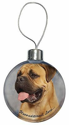 Bullmastiff Dog-With Love Christmas Tree Bauble Decoration Gift, AD-BMT1uCB
