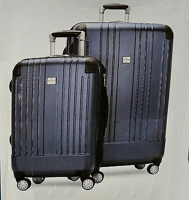 """Ricardo of Beverly Hills 2 Piece Travel Set 20"""" Carry On and 27"""" Upright Blue"""