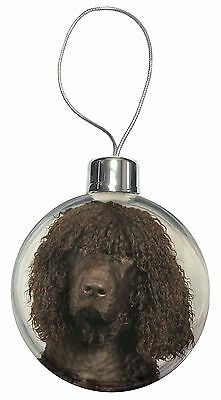 Irish Water Spaniel Dog Christmas Tree Bauble Decoration Gift, AD-IWSCB