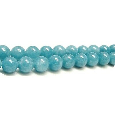 Strand 60+ Blue Sponge Quartz 6mm Plain Round Beads GS2666-2