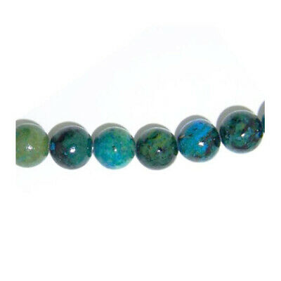Strand 45+ Blue/Green Chrysocolla 8mm Plain Round Beads GS5758-3