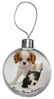 Cavalier King Charles 'Love You Mum' Christmas Tree Bauble Decora, AD-SKC10lymCB