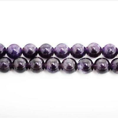 Strand Of 38+ Purple Amethyst 10mm Plain Round Beads GS0384-3
