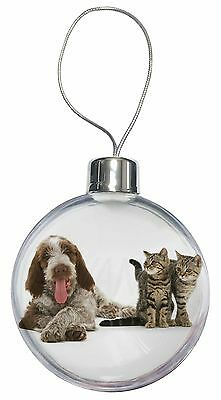 Italian Spinone Dog and Kittens Christmas Tree Bauble Decoration Gift, AD-SP1CB