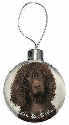 Irish Water Spaniel 'Love You Dad' Christmas Tree Bauble Decoration Gi, DAD-59CB