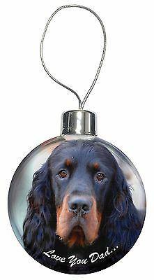Gordon Setter 'Love You Dad' Christmas Tree Bauble Decoration Gift, DAD-38CB