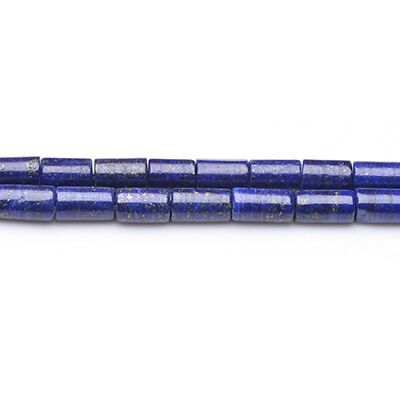 Strand Of 32+ Blue Lapis Lazuli 6 x 10-12mm Plain Tube Beads GS9810