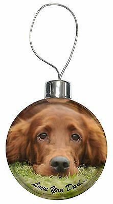 Red Setter Dpg 'Love You Dad' Christmas Tree Bauble Decoration Gift, DAD-93CB