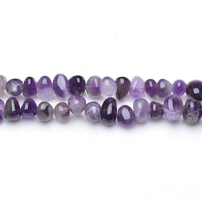 Strand Of 48+ Purple Amethyst Approx  8 x 10mm Smooth Nugget Beads GS5430