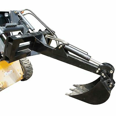 "Skid Steer Backhoe w/ 14"" Bucket Excavator Attachment Bobcat Front Loader Titan"