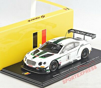 NEW 1/43 Spark SB079 Bentley Continental GT3, 24hrs Spa 2014, #8