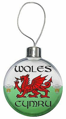 Wales Cymru Welsh Gift Christmas Tree Bauble Decoration Gift, WALES-1CB