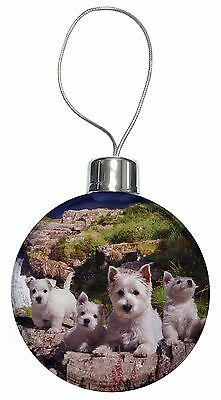 West Highland Terrier Dogs Christmas Tree Bauble Decoration Gift AD-W4CB