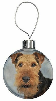 Welsh Terrier Dog Christmas Tree Bauble Decoration Gift, AD-WT1CB