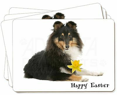 'Happy Easter' Sheltie Picture Placemats in Gift Box, AD-SE1DA1P