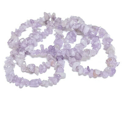 Long Strand Of 240+ Lilac Cape Amethyst 5-8mm Chip Beads GS5202