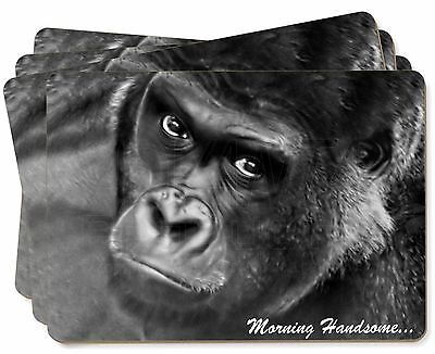 Gorilla with 'Morning Handsome'... Picture Placemats in Gift Box, MH-AM2P