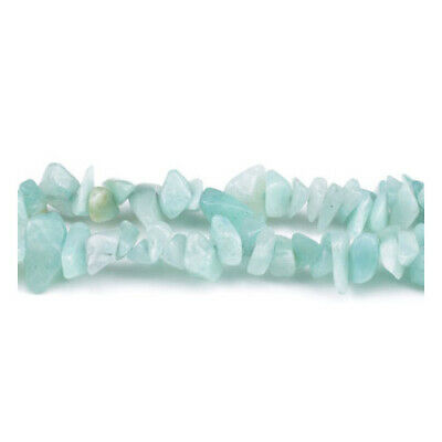 Long Strand Of 240+ Turquoise Amazonite 5-8mm Chip Beads GS3229