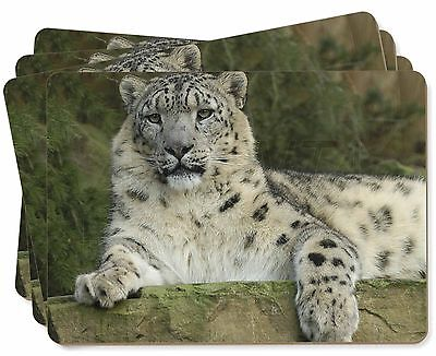 Beautiful Snow Leopard Picture Placemats in Gift Box, AT-47P