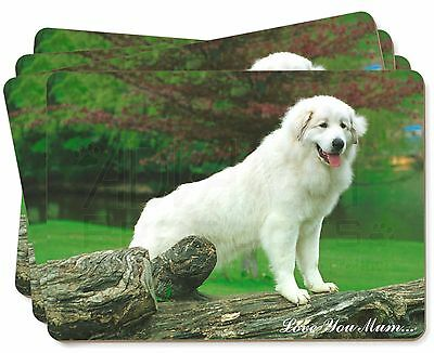 Pyrenean Mountain Dog 'Love You Mum' Picture Placemats in Gift Box, AD-PM1lymP