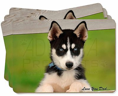 Husky Pup 'Love You Dad' Picture Placemats in Gift Box, DAD-56P