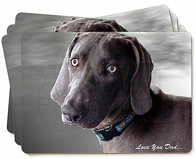 Weimaraner Dog 'Love You Dad' Picture Placemats in Gift Box, DAD-132P