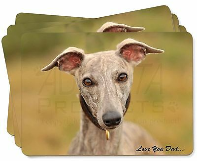 DAD-135PW Whippet Dog /'Love You Dad/' Glass Paperweight in Gift Box Christmas Pr