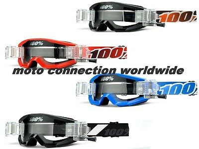 100% Strata Goggles With Roll Off System Motocross Mx Enduro Goggles 100 Percent