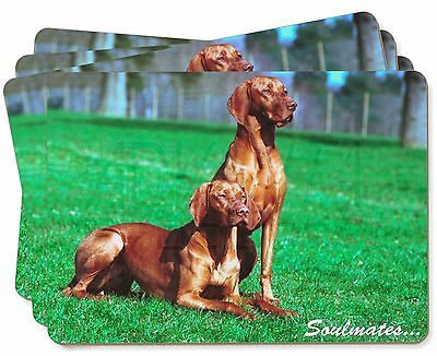 Hungarian Visla Dogs 'Soulmates' Picture Placemats in Gift Box, SOUL-61P