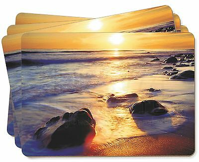 Secluded Sunset Beach Picture Placemats in Gift Box, SUN-1P