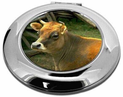 Red Cow Make-Up Round Compact Mirror Christmas Gift, ACO-1CMR