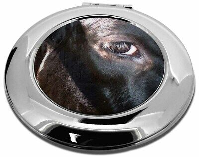 Pretty Fresian Cow Face Make-Up Round Compact Mirror Christmas Gift, ACO-3CMR