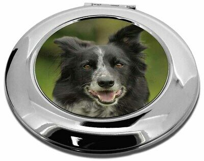 Border Collie Dog Make-Up Round Compact Mirror Christmas Gift, AD-BC11CMR