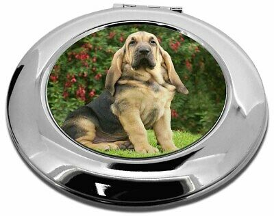 Bloodhound Dog Make-Up Round Compact Mirror Christmas Gift, AD-BL1CMR
