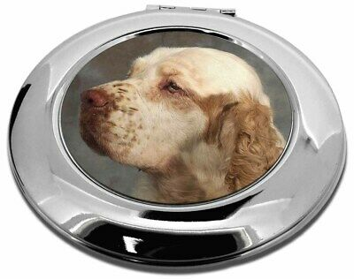 Clumber Spaniel Dog Make-Up Round Compact Mirror Christmas Gift, AD-CS1CMR