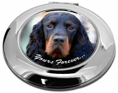 Gordon Setter 'Yours Forever' Make-Up Round Compact Mirror Christma, AD-GOR2yCMR