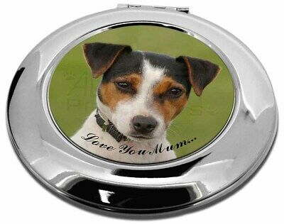 Jack Russell Terrier Dog 'Love You Mum' Make-Up Round Compact Mir, AD-JR57lymCMR
