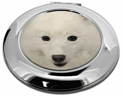Japanese Spitz Dog Make-Up Round Compact Mirror Christmas Gift, AD-JS1CMR