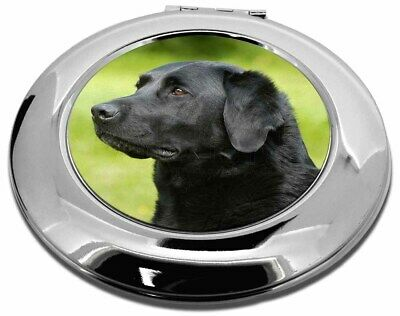 Black Labrador Dog Make-Up Round Compact Mirror Christmas Gift, AD-L1CMR