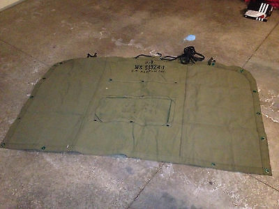 M35 M35A2 M36 Deuce 2 1/2 ton M54 M813 5 ton  Military Army Canvas End Curtain
