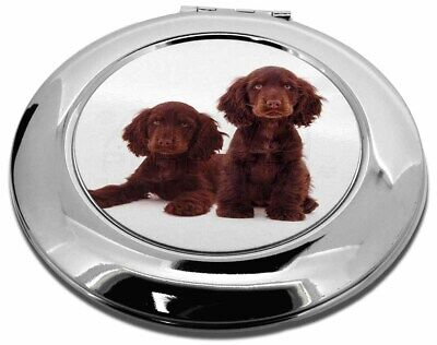 Chocolate Cocker Spaniel Dogs Make-Up Round Compact Mirror Christmas , AD-SC9CMR