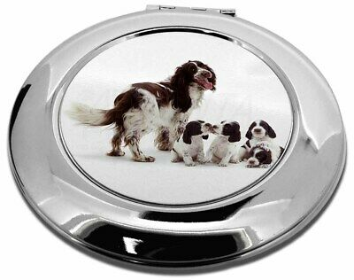 Springer Spaniel Dogs Make-Up Round Compact Mirror Christmas Gift, AD-SS12CMR