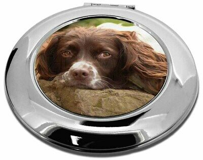 Springer Spaniel Dog Make-Up Round Compact Mirror Christmas Gift, AD-SS1CMR