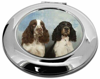 Springer Spaniel Dogs Make-Up Round Compact Mirror Christmas Gift, AD-SS2CMR